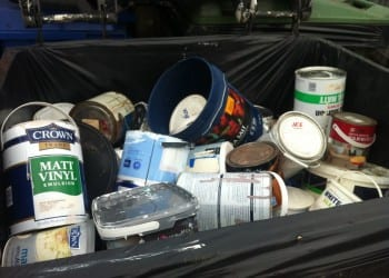 Paint waste recovery