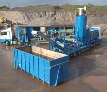 Mobile lime stabilisation plants